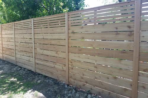 Horozontal Fence Lattice Cedar